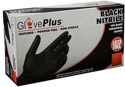 GlovePlus Black Industrial Nitrile Gloves - XXL